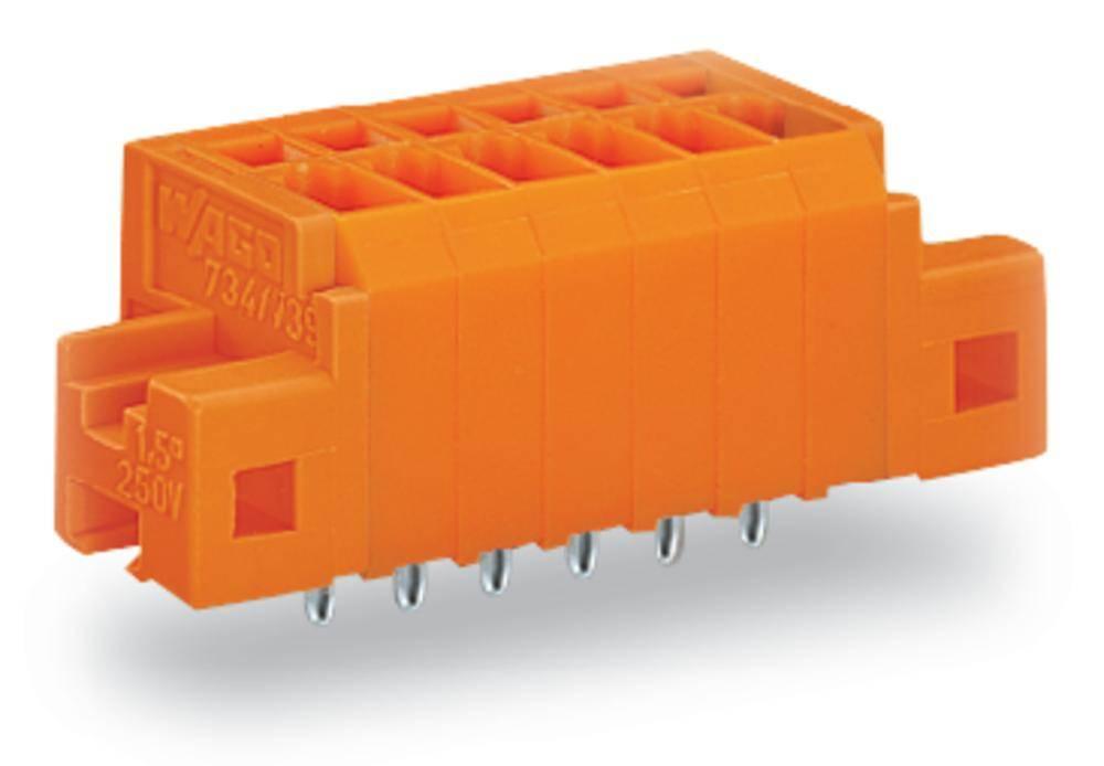 Fjederkraftsklemmeblok WAGO 1.50 mm² Poltal 2 Orange 200 stk