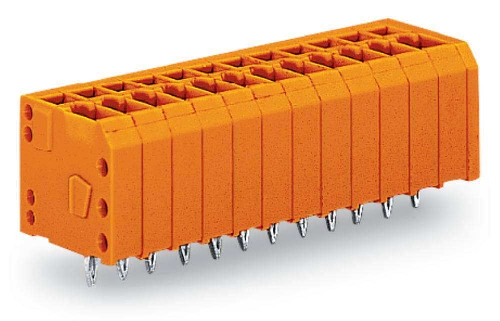 Fjederkraftsklemmeblok WAGO 1.50 mm² Poltal 7 Orange 160 stk