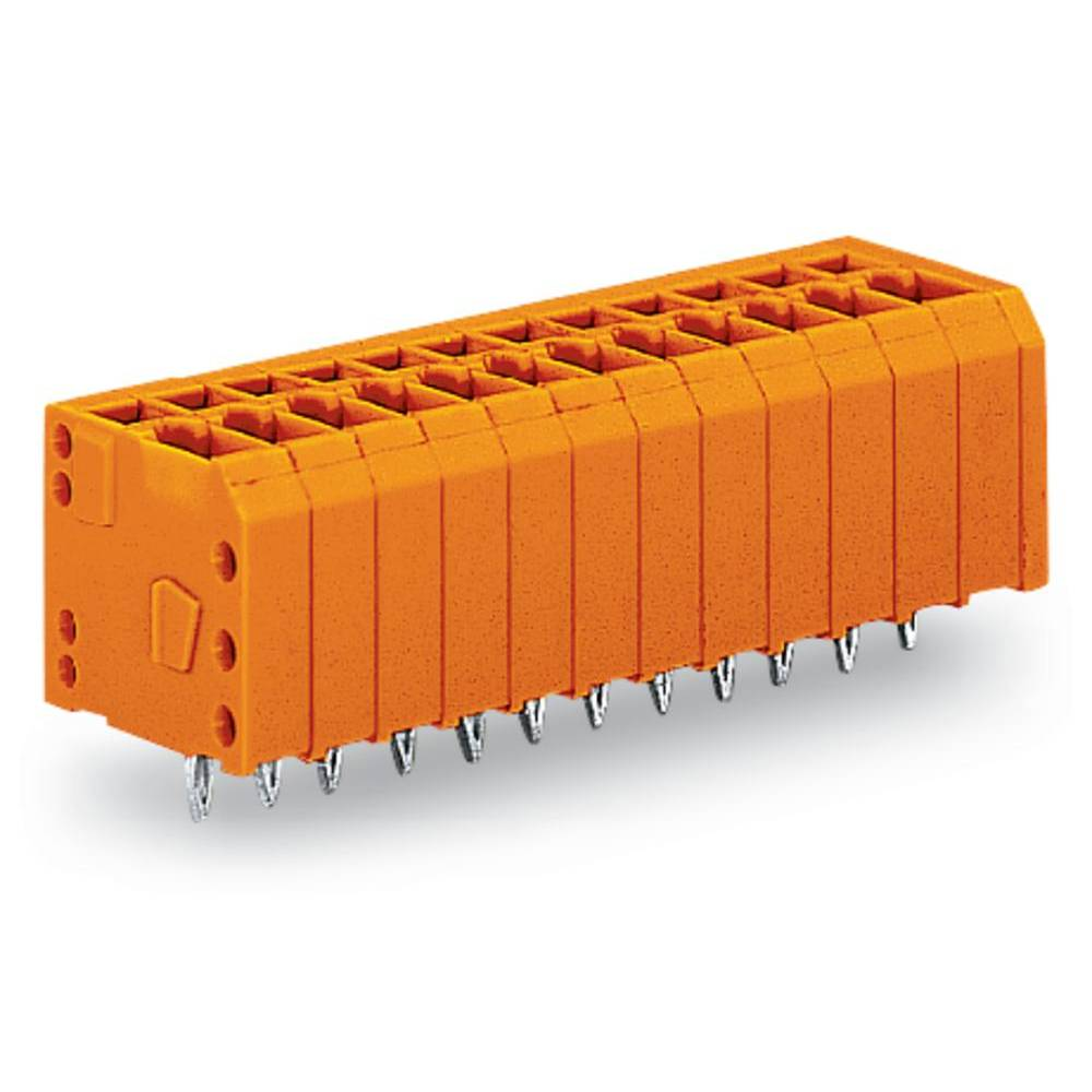 Fjederkraftsklemmeblok WAGO 1.50 mm² Poltal 12 Orange 100 stk