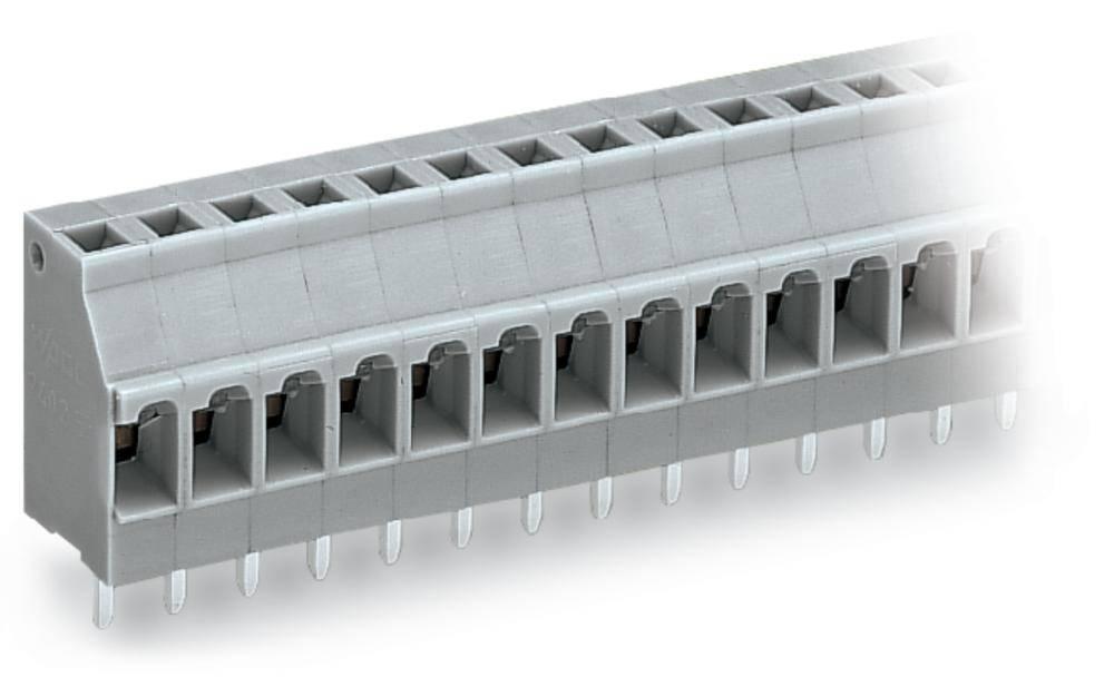 Fjederkraftsklemmeblok WAGO 2.50 mm² Poltal 2 Grå 460 stk