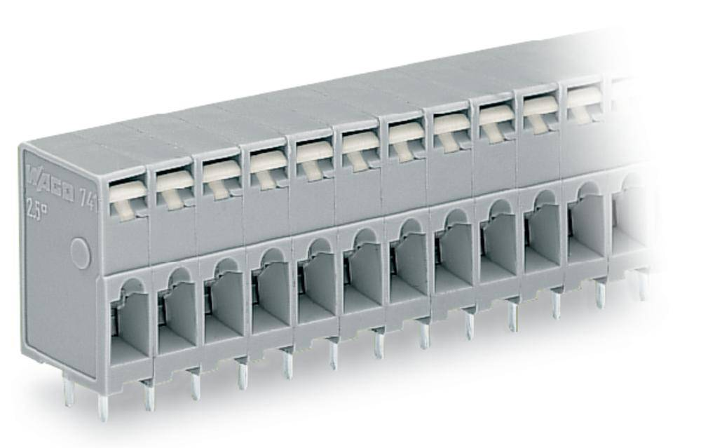 Fjederkraftsklemmeblok WAGO 2.50 mm² Poltal 8 Grå 100 stk