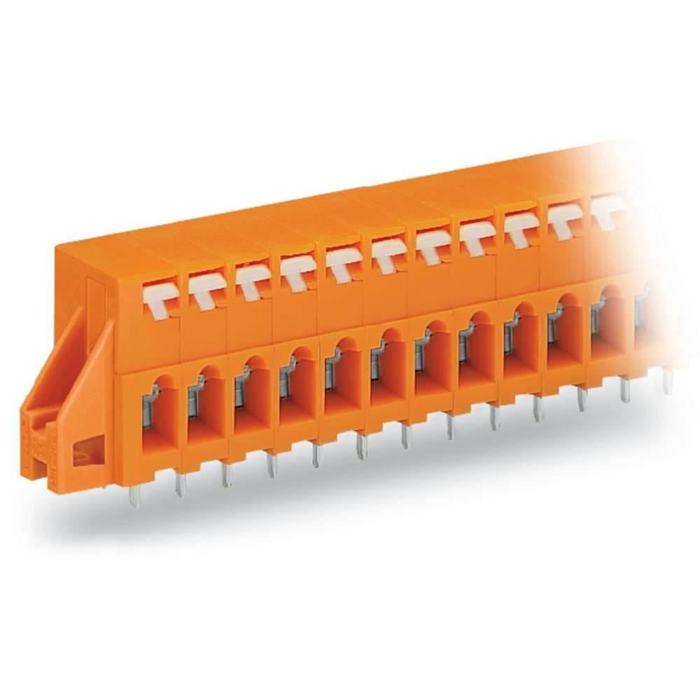 Fjederkraftsklemmeblok WAGO 2.50 mm² Poltal 2 Orange 180 stk