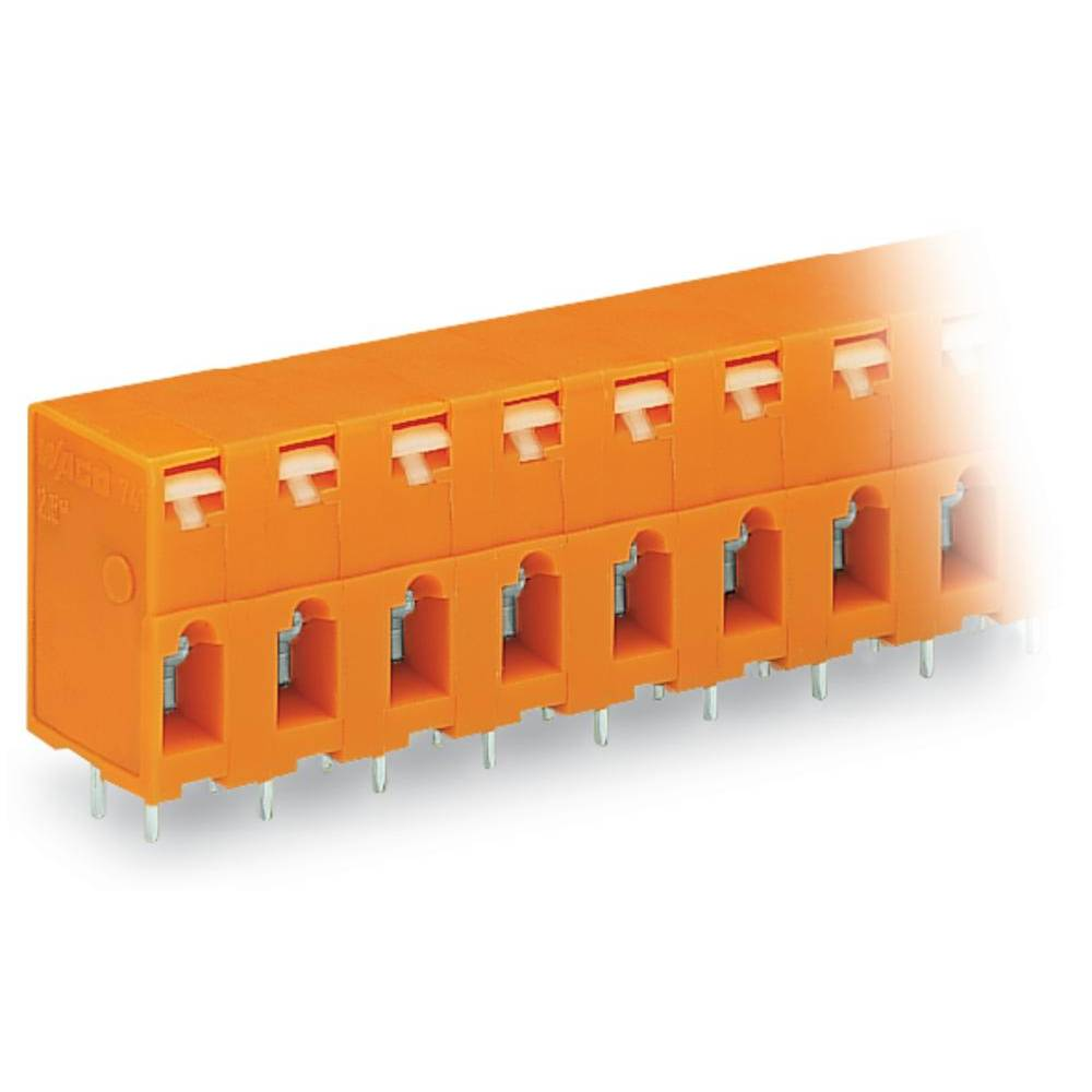Fjederkraftsklemmeblok WAGO 2.50 mm² Poltal 10 Orange 60 stk