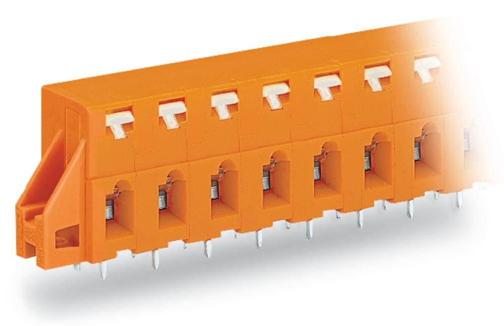 Fjederkraftsklemmeblok WAGO 2.50 mm² Poltal 2 Orange 160 stk