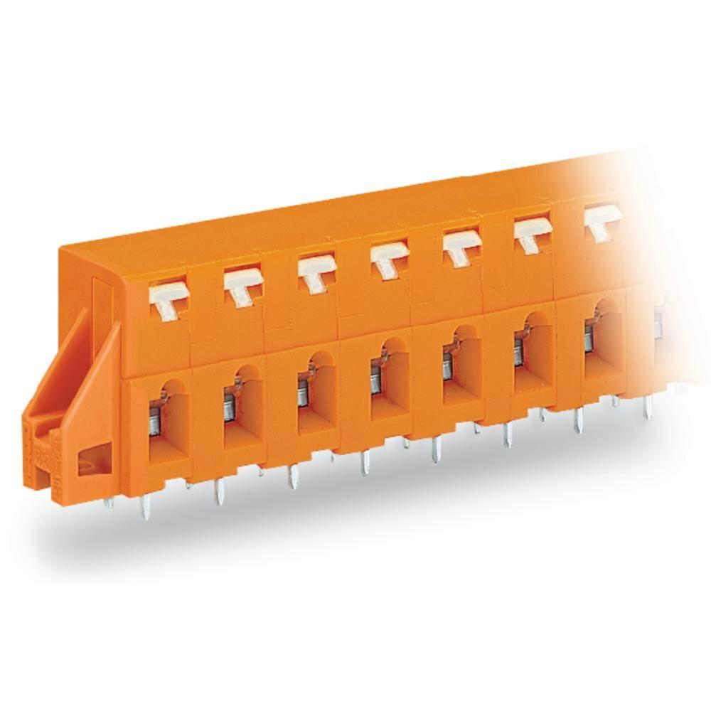 Fjederkraftsklemmeblok WAGO 2.50 mm² Poltal 5 Orange 80 stk