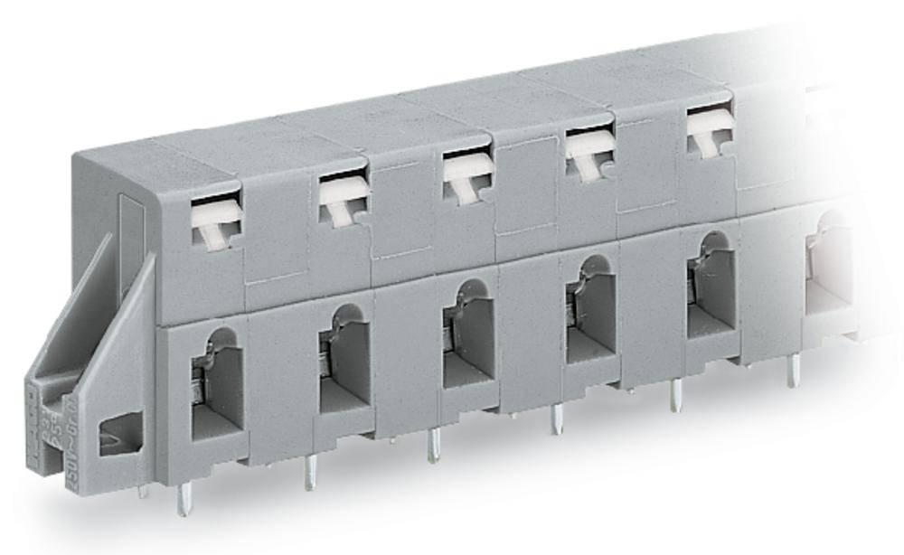 Fjederkraftsklemmeblok WAGO 2.50 mm² Poltal 4 Grå 80 stk