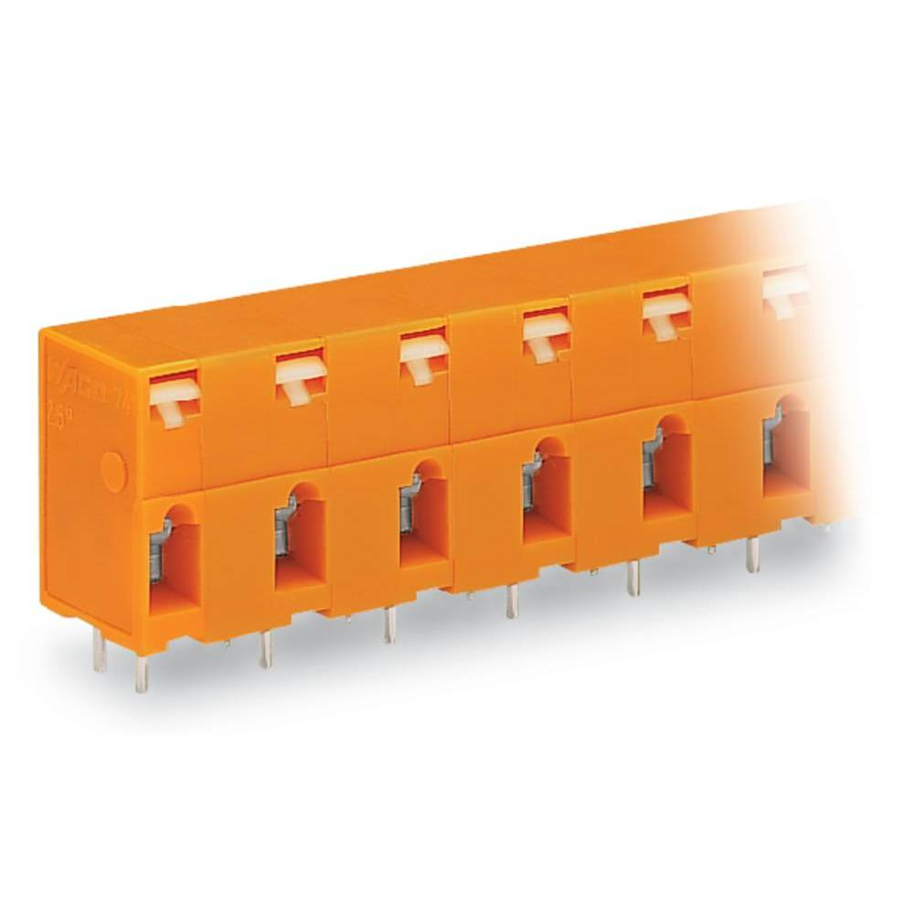 Fjederkraftsklemmeblok WAGO 2.50 mm² Poltal 4 Orange 120 stk