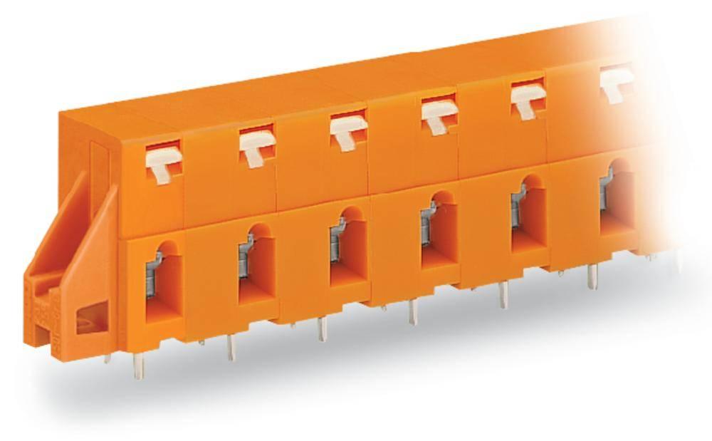 Fjederkraftsklemmeblok WAGO 2.50 mm² Poltal 4 Orange 80 stk