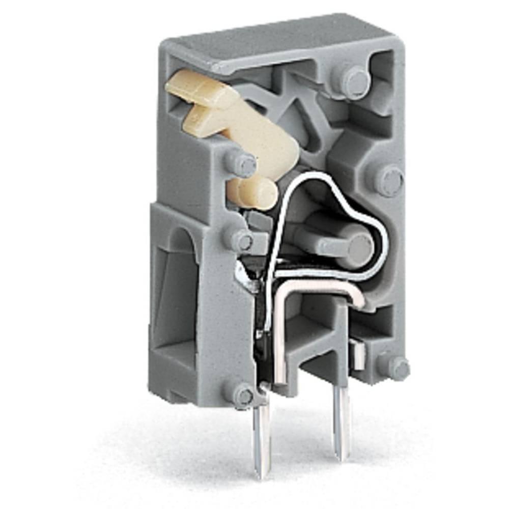 Fjederkraftsklemmeblok WAGO 2.50 mm² Poltal 1 Grå 1000 stk