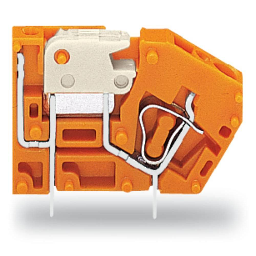 Fjederkraftsklemmeblok WAGO 2.50 mm² Poltal 1 Orange 384 stk