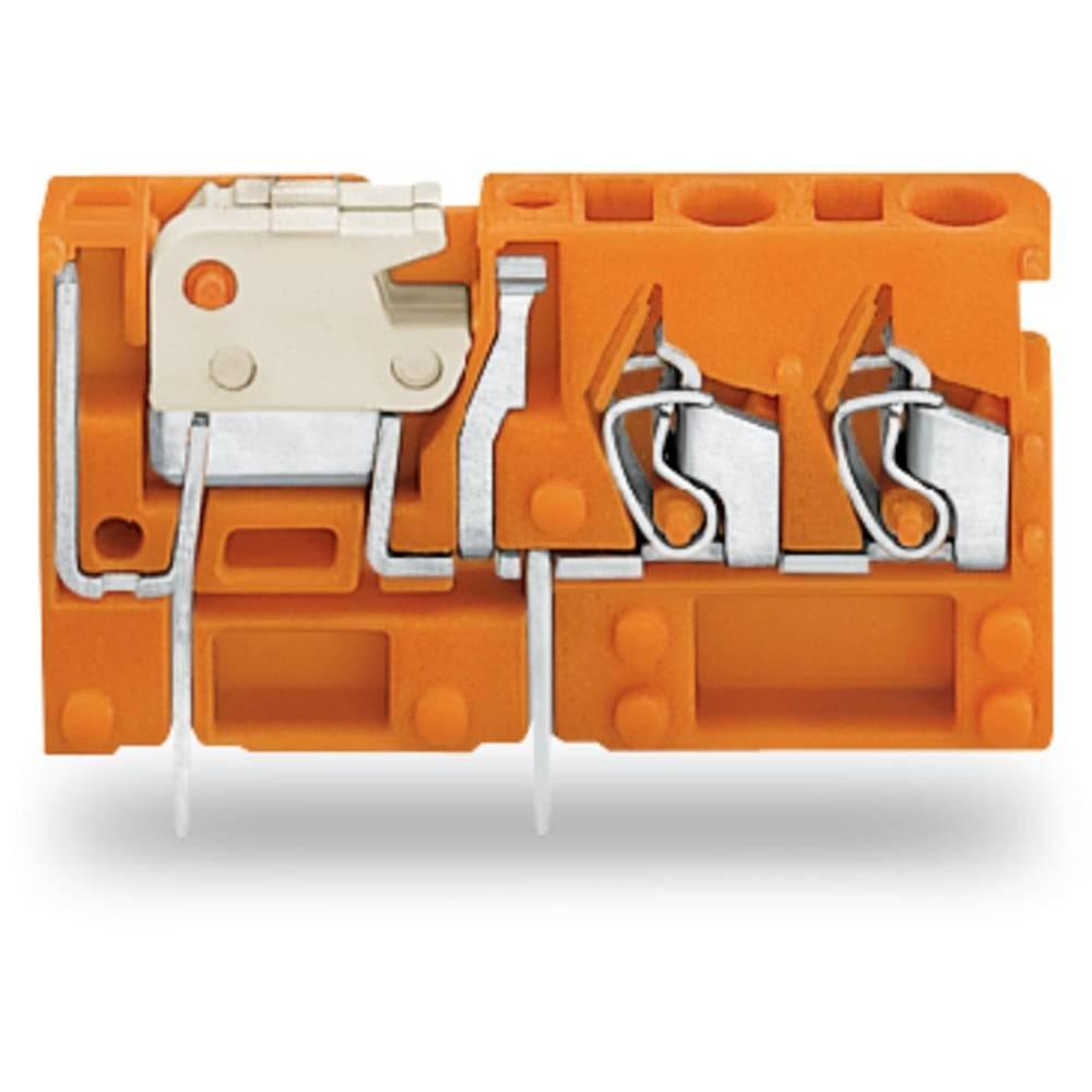 Fjederkraftsklemmeblok WAGO 2.50 mm² Poltal 1 Orange 200 stk