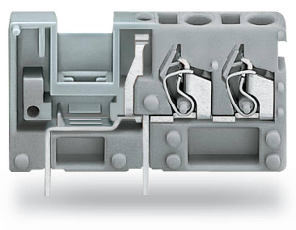 Fjederkraftsklemmeblok WAGO 2.50 mm² Poltal 1 Blå 200 stk