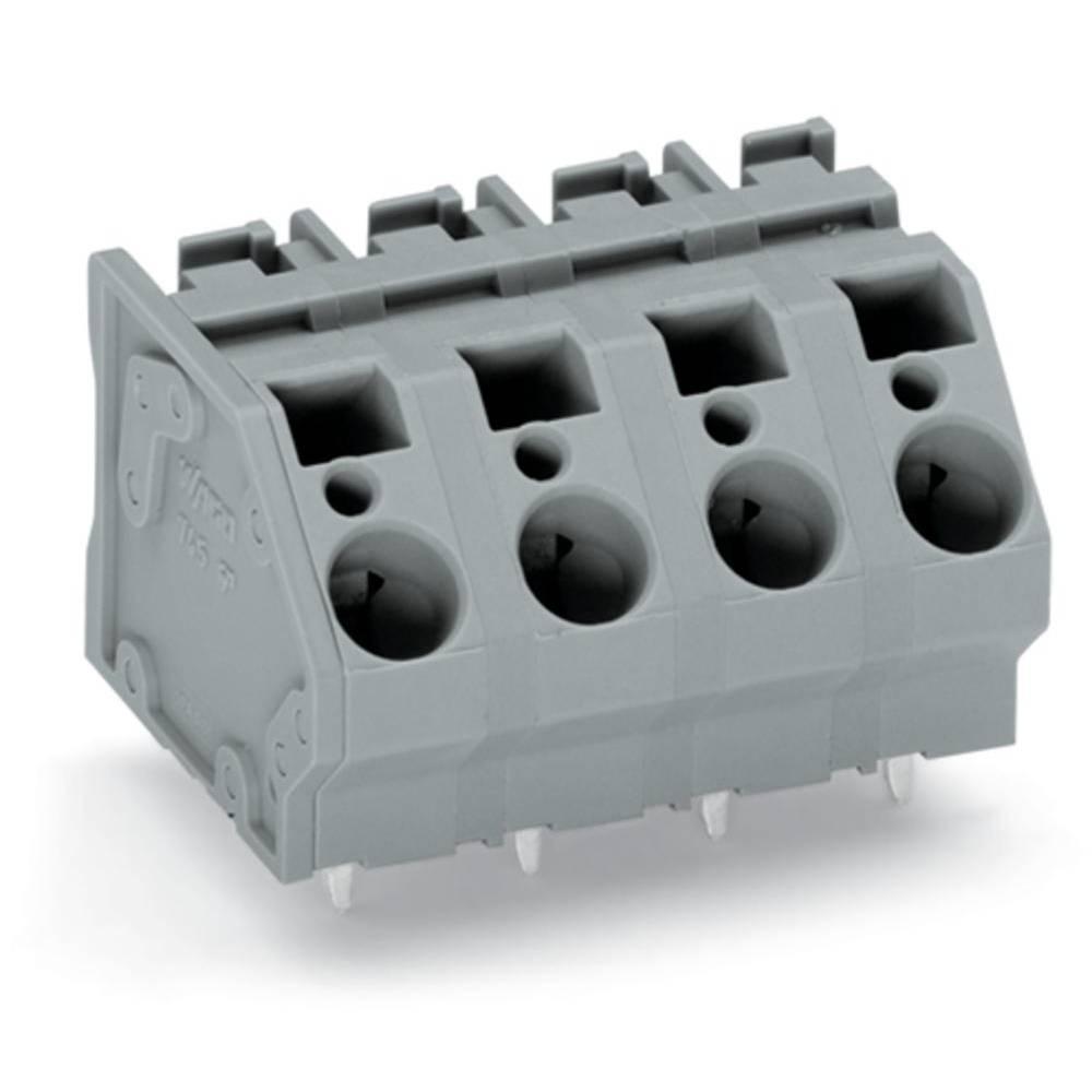 Fjederkraftsklemmeblok WAGO 6.00 mm² Poltal 7 Grå 24 stk