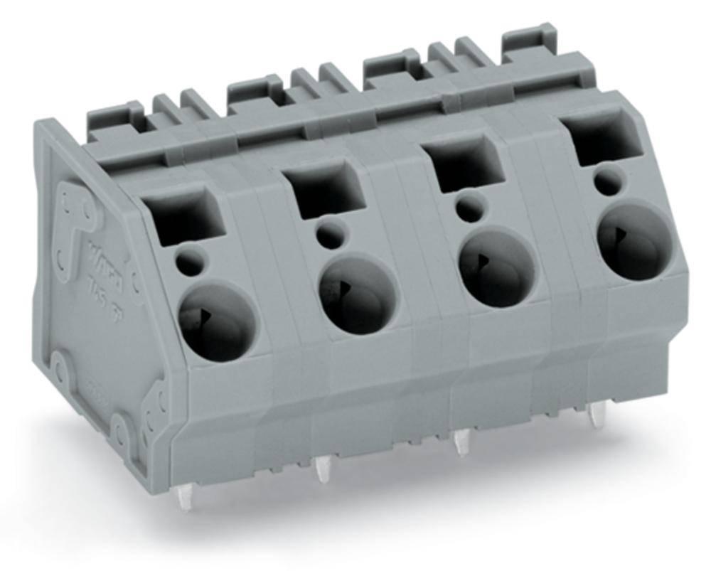 Fjederkraftsklemmeblok WAGO 6.00 mm² Poltal 5 Grå 32 stk