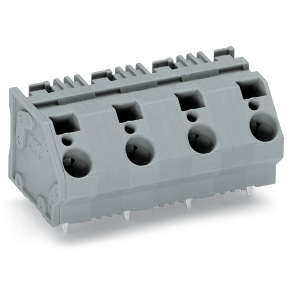 Fjederkraftsklemmeblok WAGO 6.00 mm² Poltal 7 Grå 16 stk
