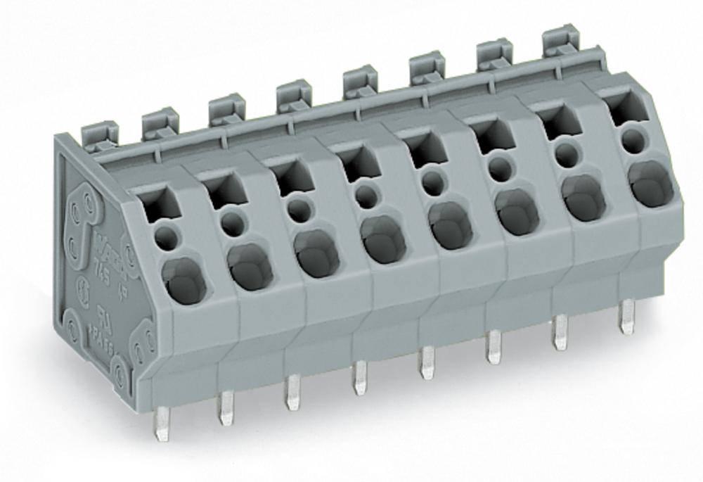 Fjederkraftsklemmeblok WAGO 4.00 mm² Poltal 6 Grå 60 stk