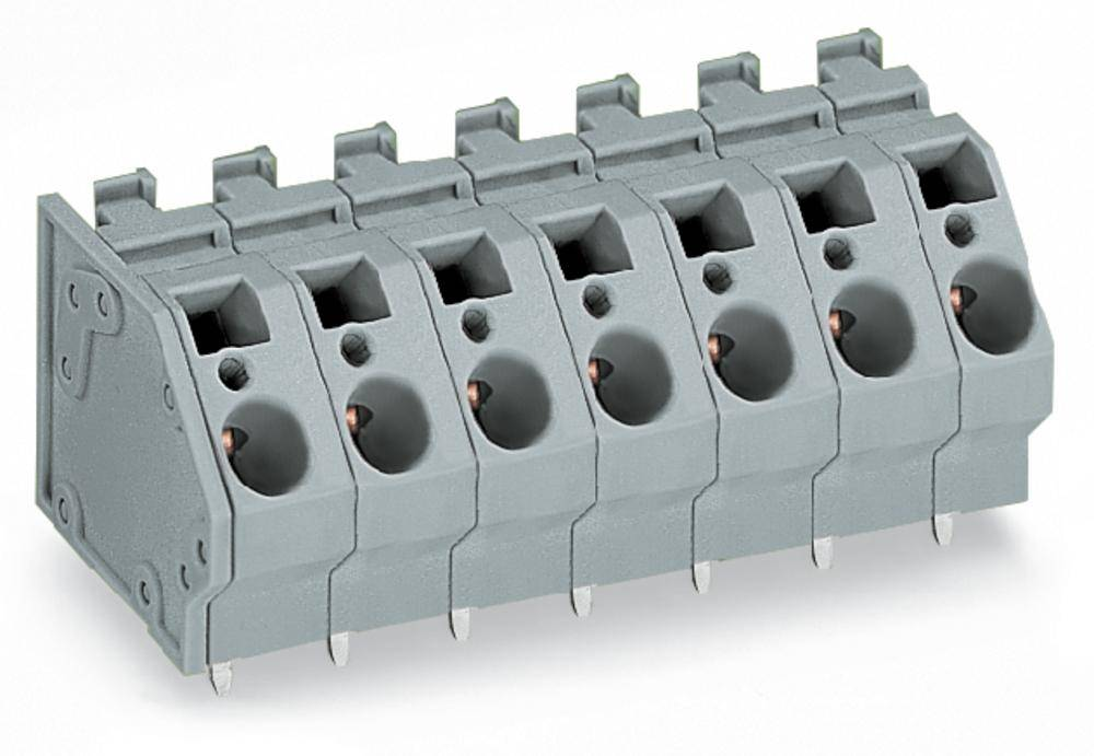 Fjederkraftsklemmeblok WAGO 6.00 mm² Poltal 2 Grå 104 stk