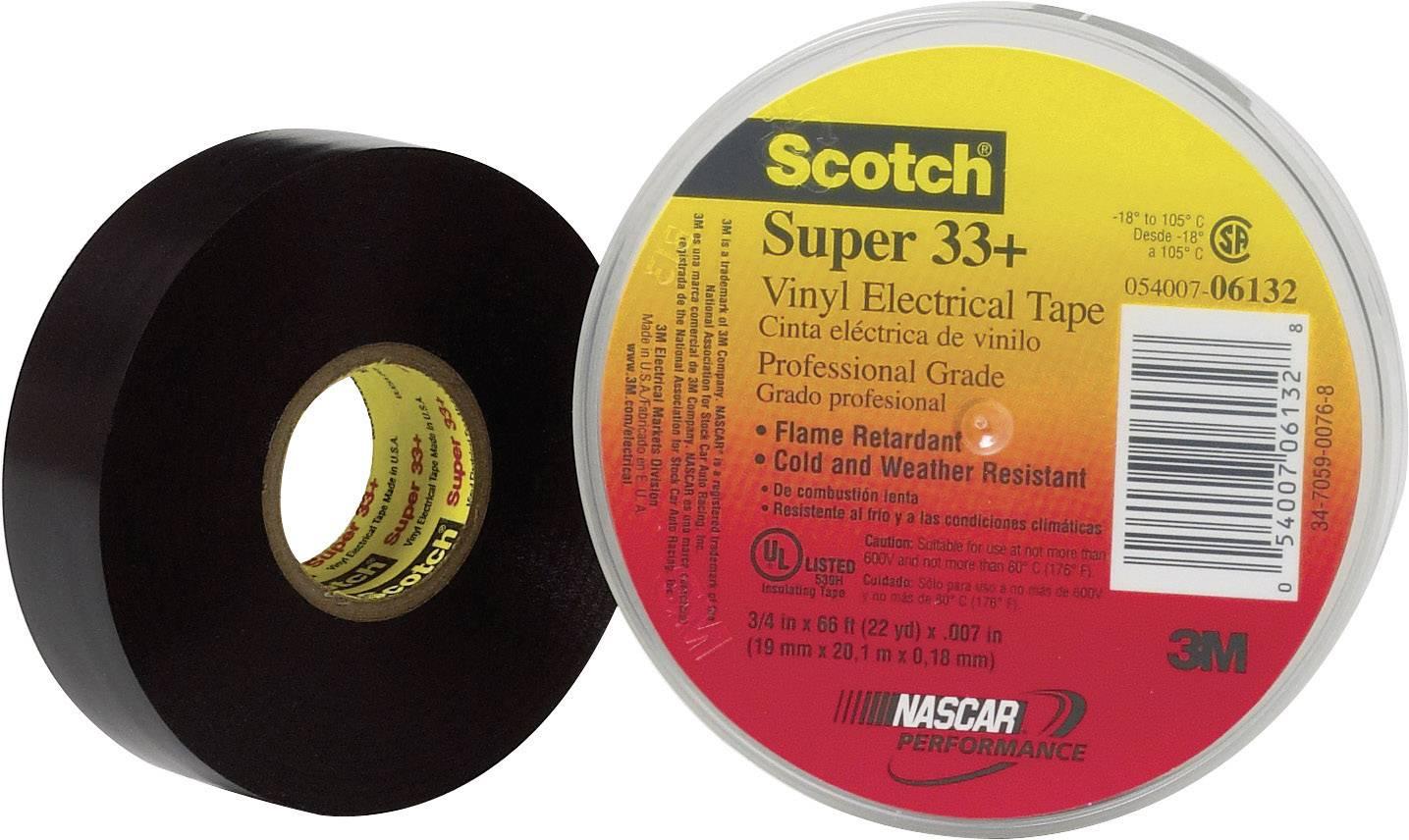 3M 80610833800 Electrical tape Scotch® Super 33 Black (L x W