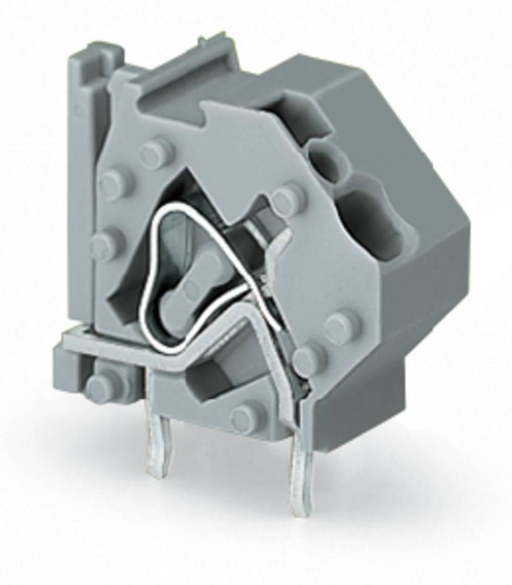 Fjederkraftsklemmeblok WAGO 4.00 mm² Poltal 1 Blå 200 stk
