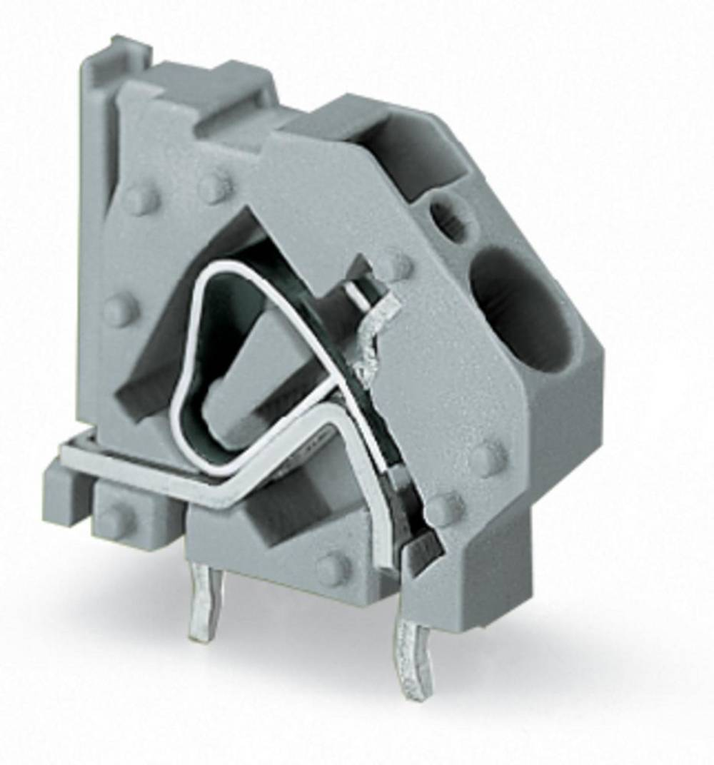 Fjederkraftsklemmeblok WAGO 6.00 mm² Poltal 1 Lysegrøn 100 stk
