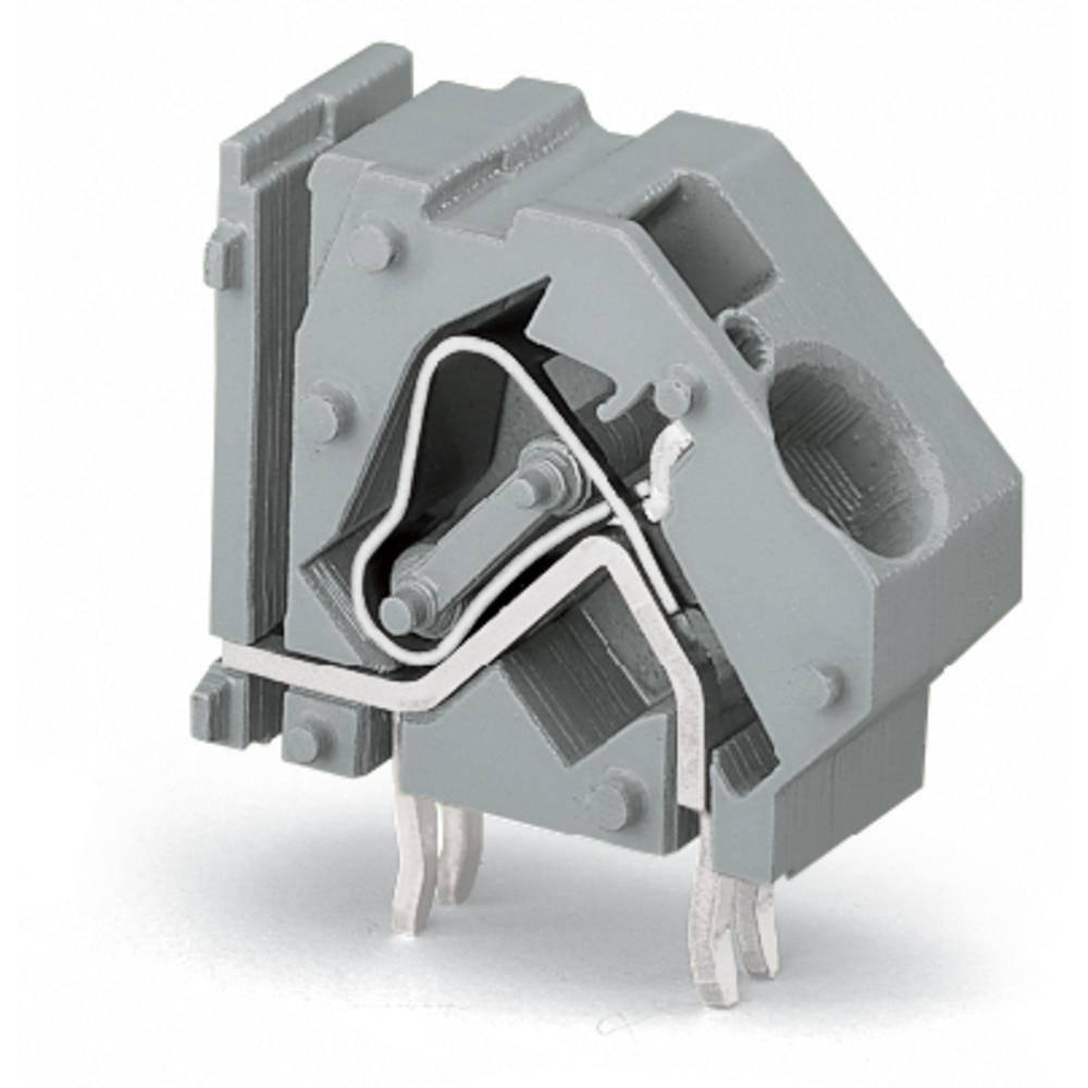 Fjederkraftsklemmeblok WAGO 16.00 mm² Poltal 1 Lysegrøn 100 stk