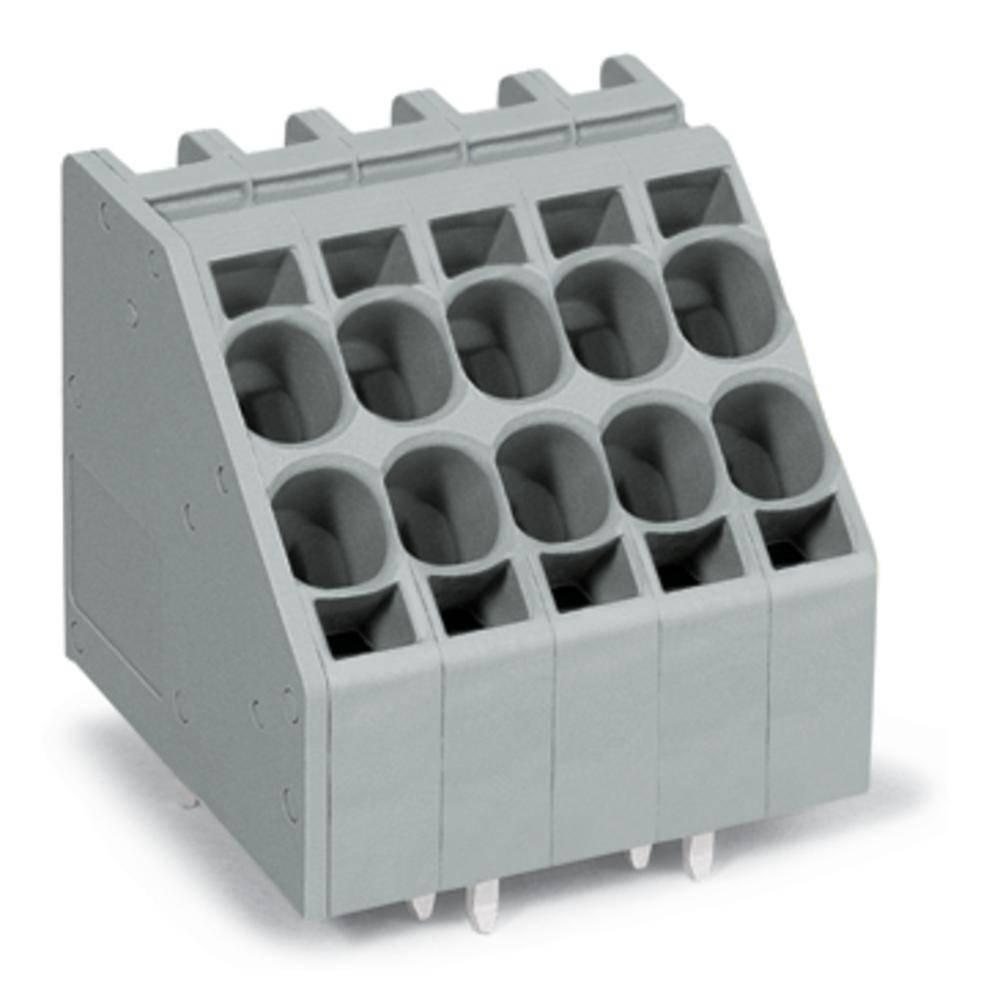 Fjederkraftsklemmeblok WAGO 10.00 mm² Poltal 2 Grå 60 stk
