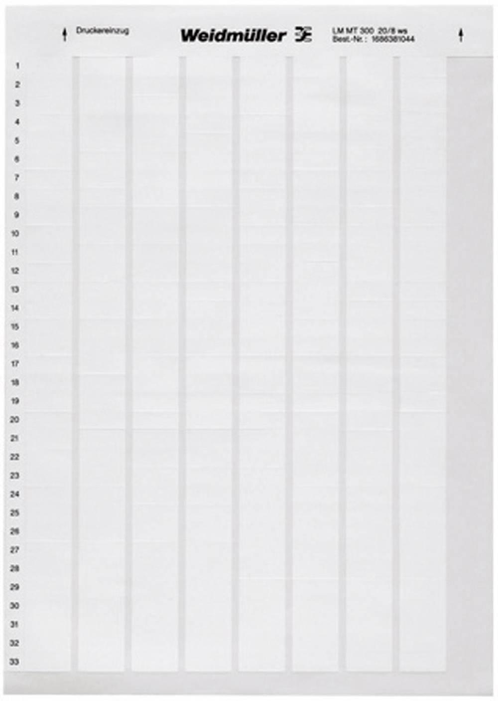 Etikete za označevanje kablov LaserMark 30 x 15 mm označevalno polje: bele barve Weidmüller 1759871044 LM WriteOn 15X70 WS Anzah