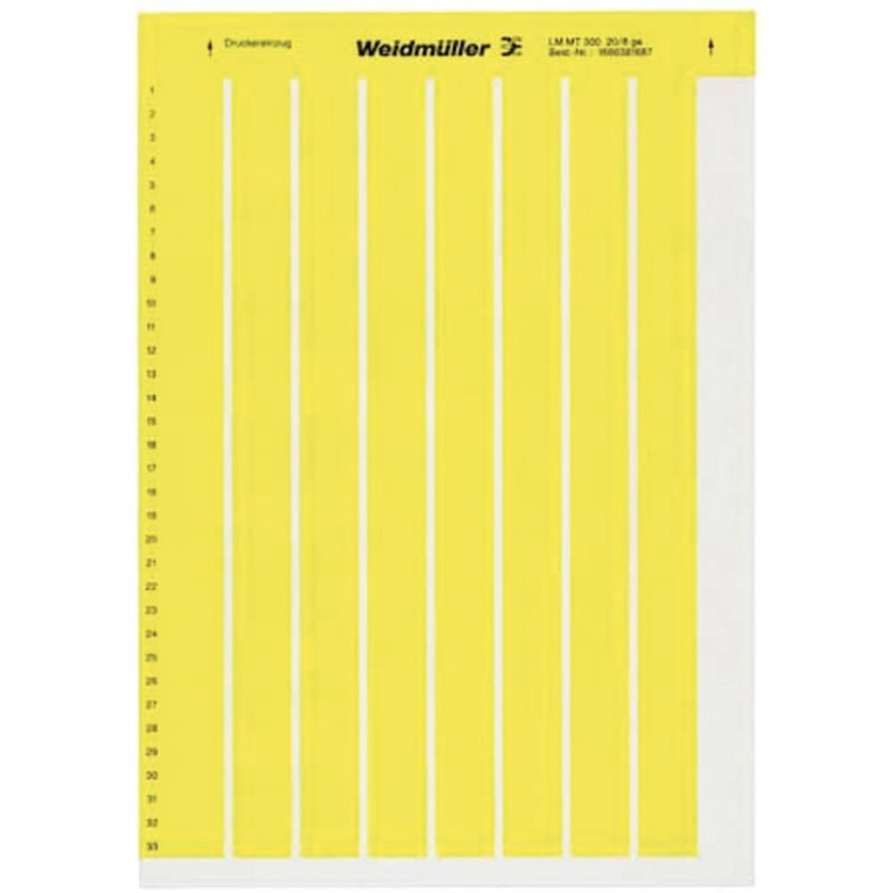 Etikete za označevanje kablov LaserMark 6 x 15.20 mm označevalno polje: rumene barve Weidmüller 1686361687 LM MT300 15X6 GE Anza