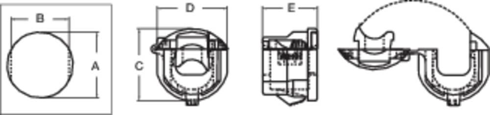 Zaštita ppotegom, promjer sponke (maks.) 9.8 mm, poliamid crne boje PB Fastener H-1857 1 kom