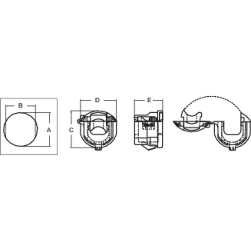 Zaščita ppotegom premer sponke (maks.) 9.8 mm, poliamid črne barve PB Fastener H-1857 1 kos