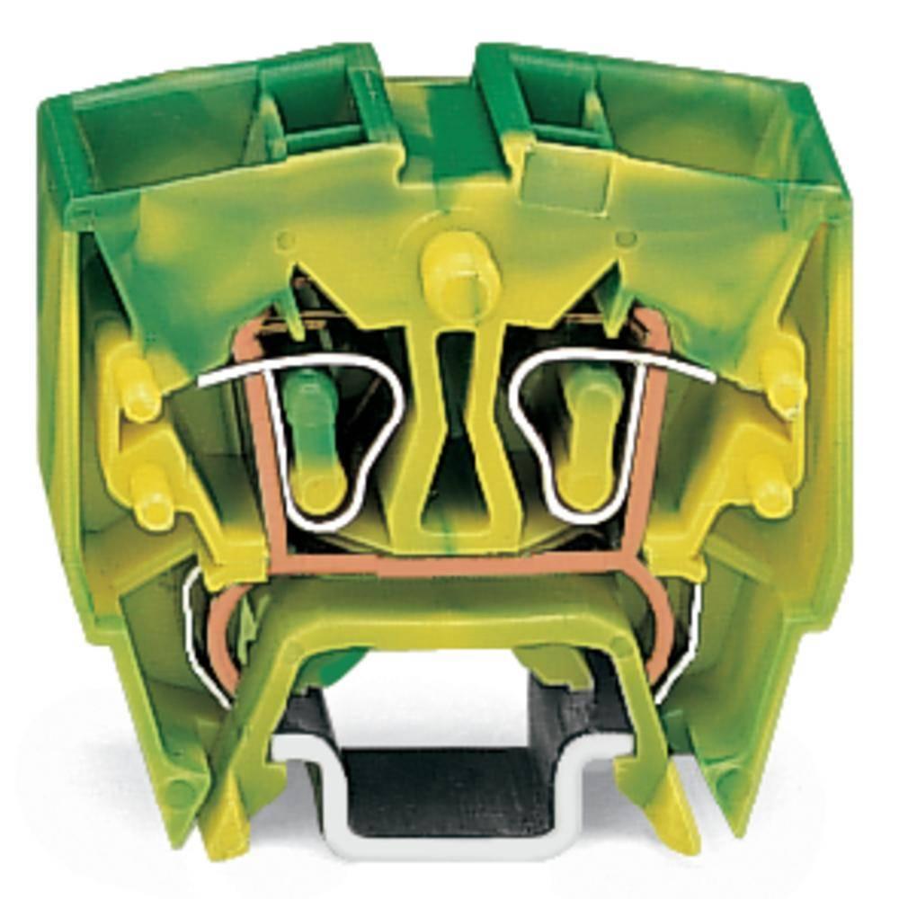 Jordklemme 10 mm Trækfjeder Belægning: Terre Grøn-gul WAGO 264-727/999-950 100 stk