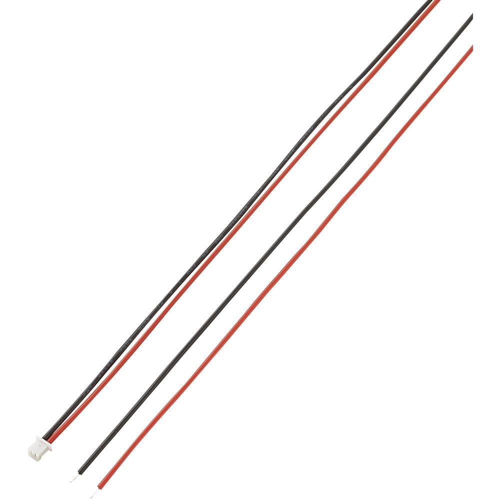 Vtični ženski konektor s pramenko, razporeditev kontaktov: 1,27 mm, poli: 2, 1 kos
