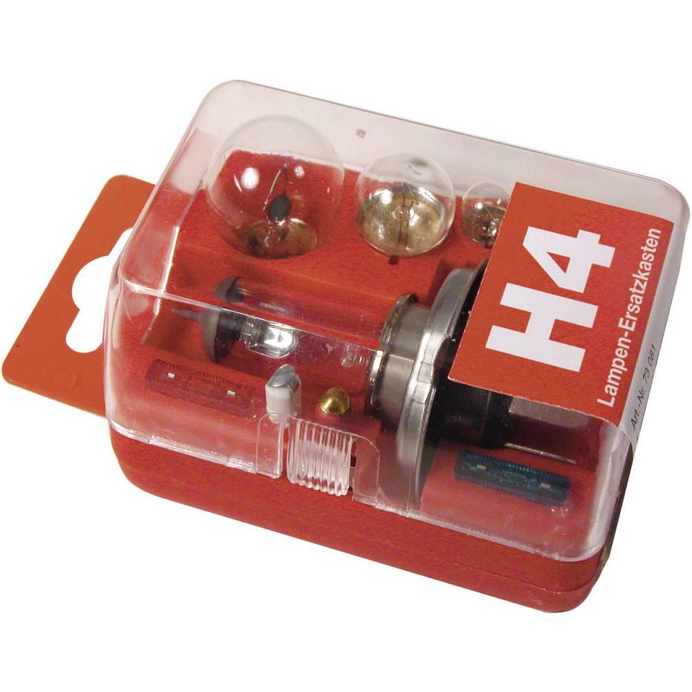 Rezervne žarnice v škatli Unitec, H4, 12 V, 1 kos, prozorne