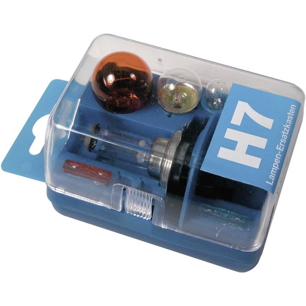Rezervne žarulje u kutiji Unitec, H7, 12 V, 1 komad, prozirne