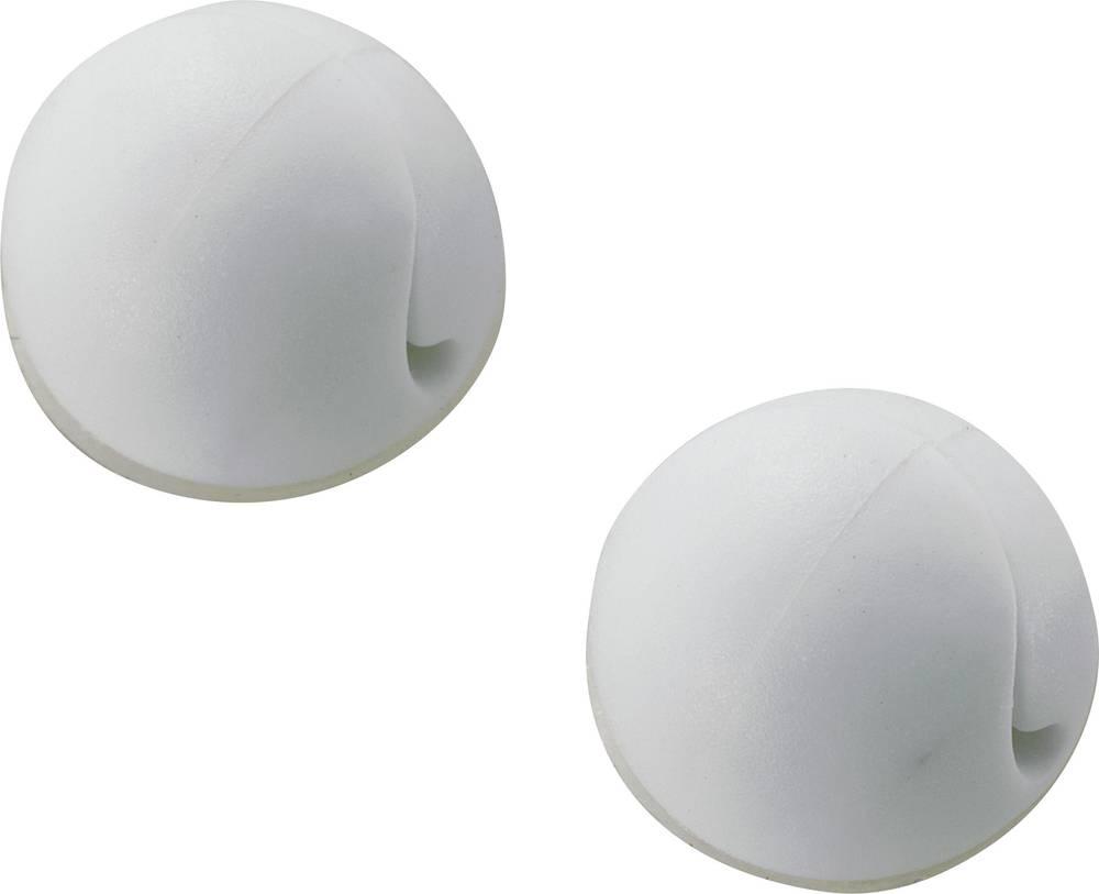 Držalo za kable samolepljiva bele barve 547112 1 kos