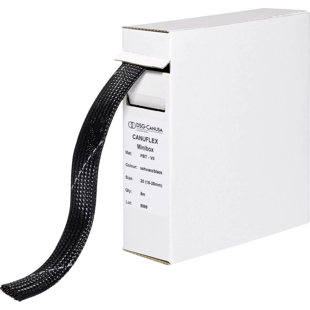 Zaščitna cev Canuflex, pletenica, snop-: 18 - 25 mm Canuflex-Minibox PBT V0;DSG Canusa vsebina: 5 m