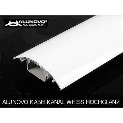 Image of Alunovo HW90-100 Cable duct (L x W x H) 1000 x 80 x 20 mm 1 pc(s) White (glossy)