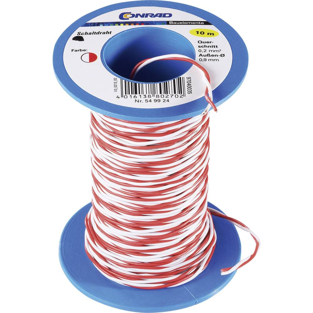 Jumper Wire 2 X 020 Mm Red White Conrad Components From Christmas Lights Wiring Review Ebooks