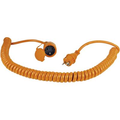 Image of as - Schwabe 70415 Current Cable extension Orange, Black 5.00 m Spiral cable
