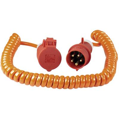 Image of as - Schwabe 70416 Current Cable extension Orange, Red 5.00 m Spiral cable
