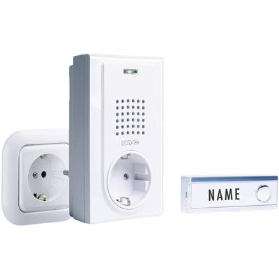 Image of m-e modern-electronics FG-2.2 Wireless door bell Complete set incl. nameplate