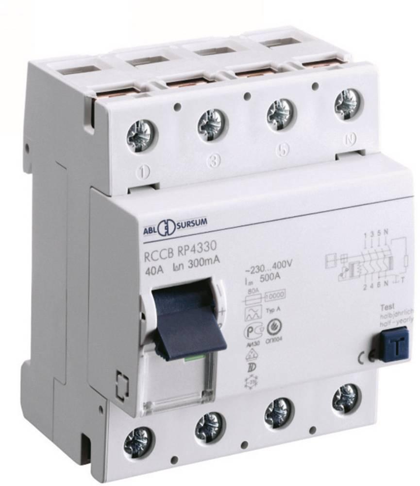 FI-sikkerhedsafbryder 4-polet 40 A 0.3 A 400 V ABL Sursum RP4330