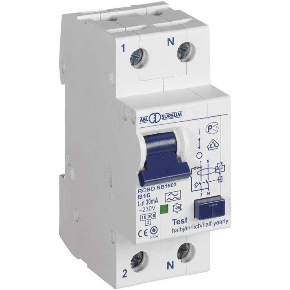 FI-sikkerhedsafbryder/automatsikring 1-polet 10 A 0.3 A 230 V ABL Sursum RB1030