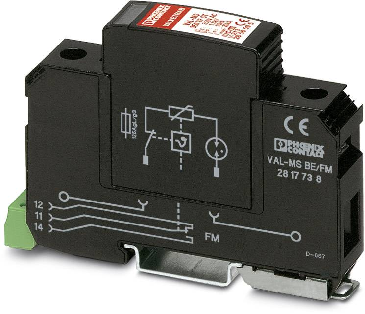 *NEW* PHOENIX CONTACT SURGE PROTECTION BASE VAL-MS BE//FM  28 17 73 8
