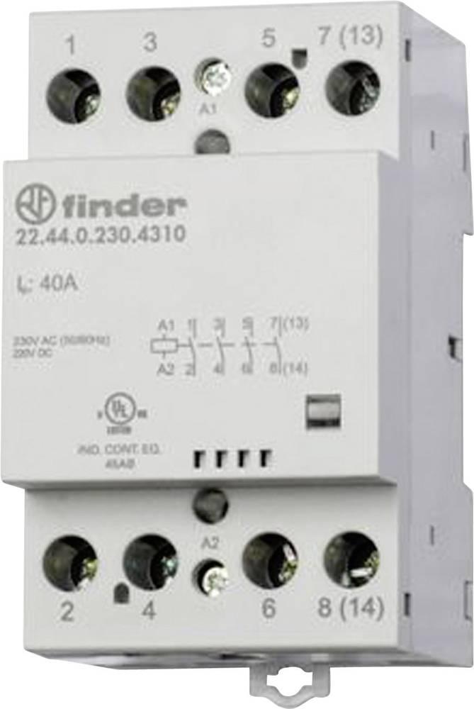 Kontaktor 1 stk 22.44.0.230.4310 Finder 4 x sluttekontakt 230 V/DC, 230 V/AC 40 A