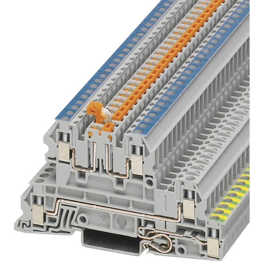 Installation tier terminal UTI Phoenix Contact UTI 2,5-PE/L/NTB Grå 1 stk