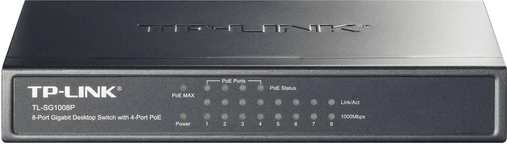 8-vratno gigabitno namizno omrežno stikalo TP-Link TL-SG1008P, 4 x vrata PoE
