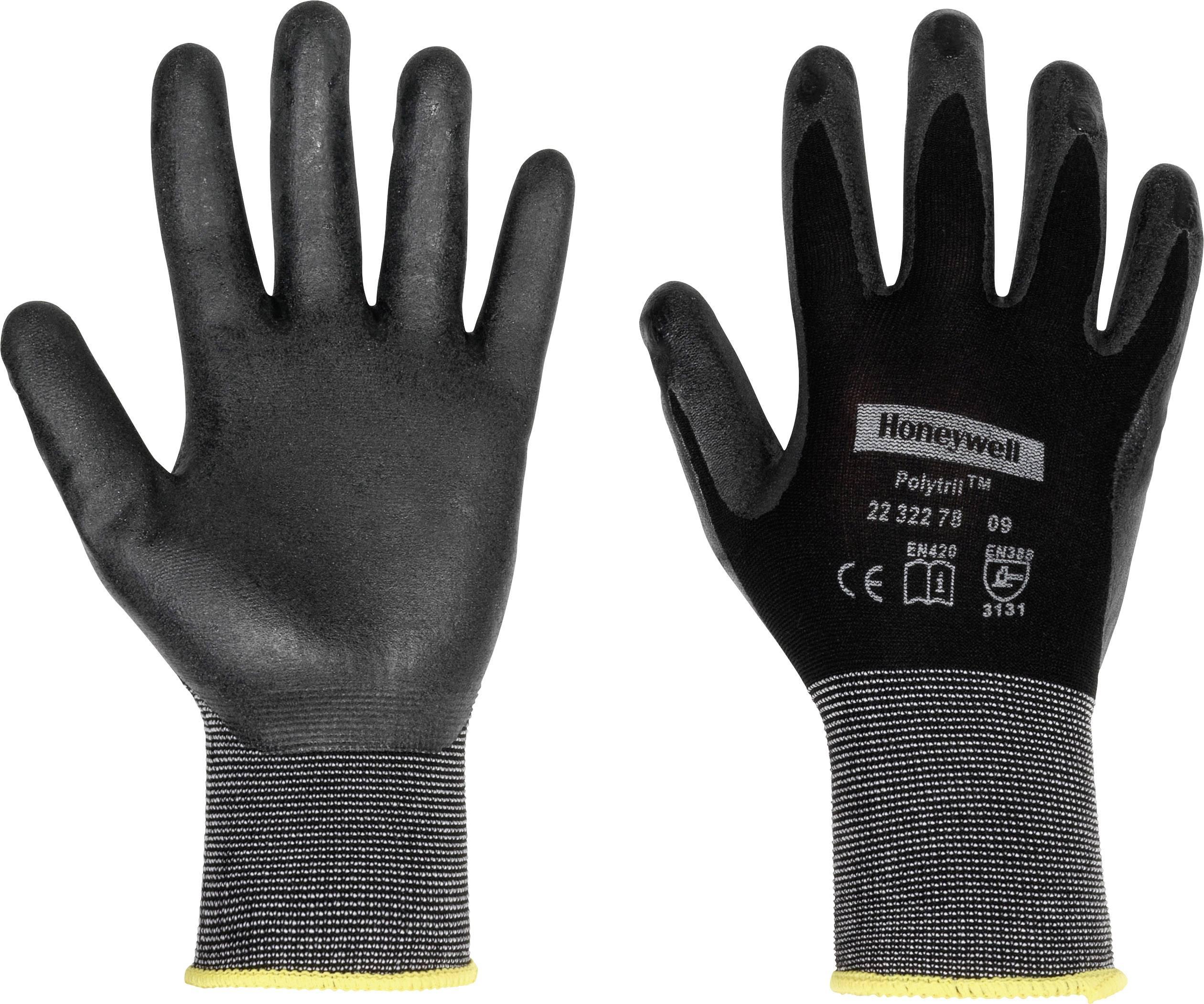 Honeywell Polytril Black Gloves Size 9