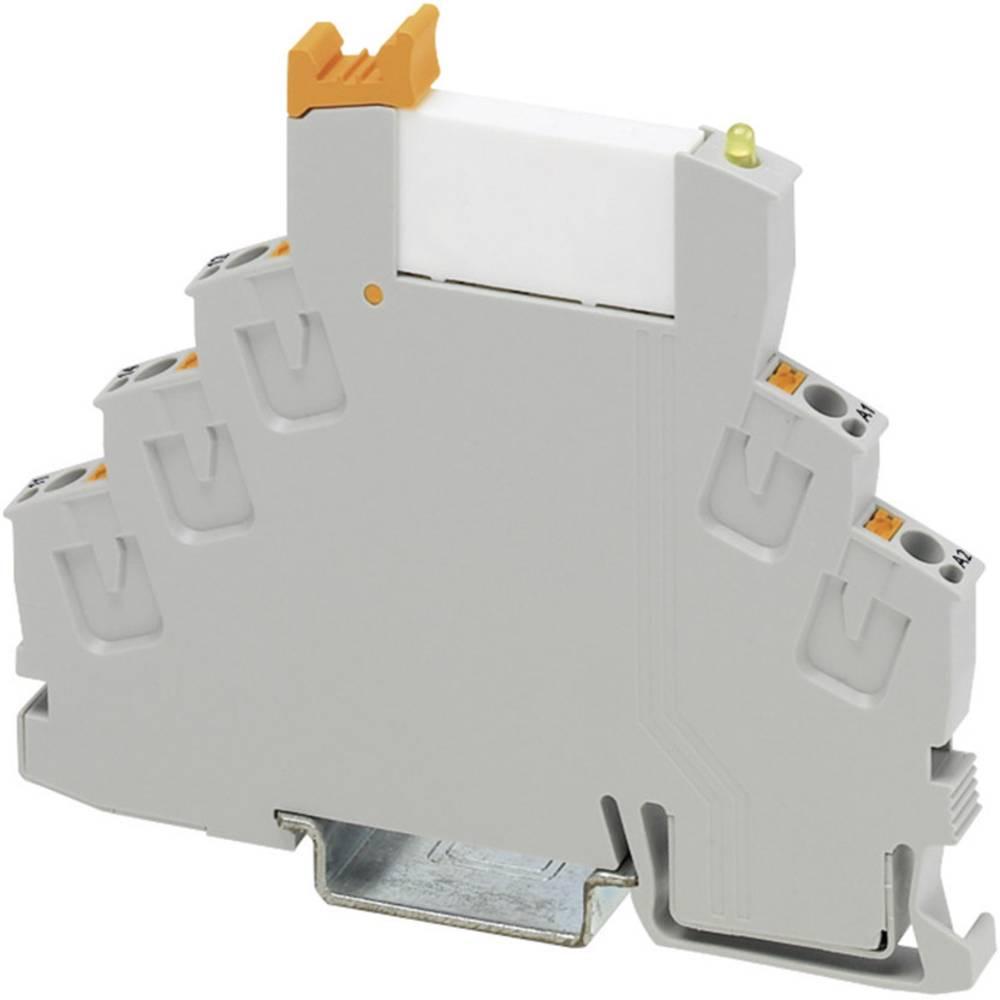 Relækomponent 1 stk Phoenix Contact RIF-0-RPT-12DC/21 Nominel spænding: 12 V/DC Brydestrøm (max.): 6 A 1 x skiftekontakt