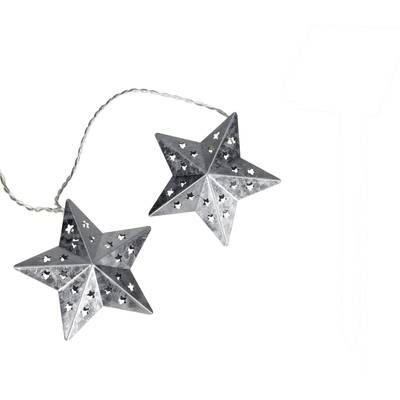 Image of 05-c080 Holiday lights (motif) Stars 10 LED (monochrome) Warm white Illuminated length: 2.7 m
